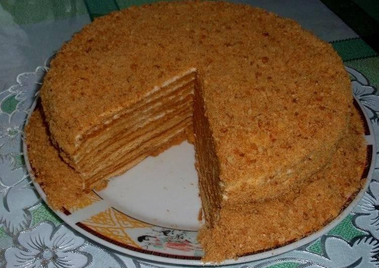 торт медовик рецепт на свином жире