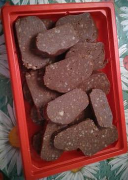 Шоколадная колбаса на #кулинарныймарафон