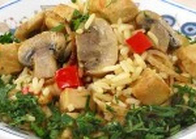 Курица с рисом в соусе карри