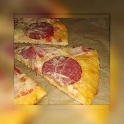Пицца из домашнего теста #кулинарныймарафон