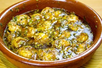 Креветки пиль-пиль. Испанская кухня