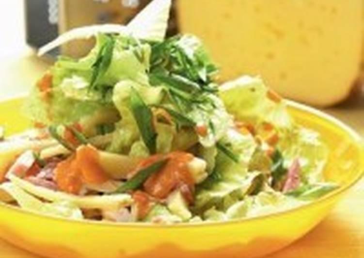 Салат с грудинкой и сыром «Пражский»