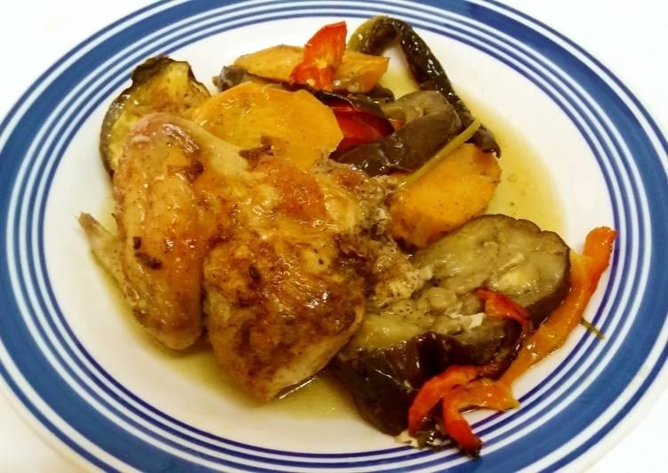 Курица в имбирном соусе с овощами — 4