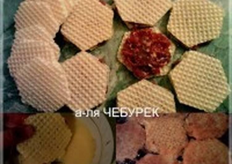 Вафельные чебуречки