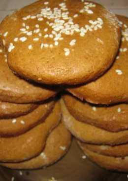 Печенье медовое с кунжутом