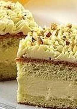Пирожное бисквитное с орехами
