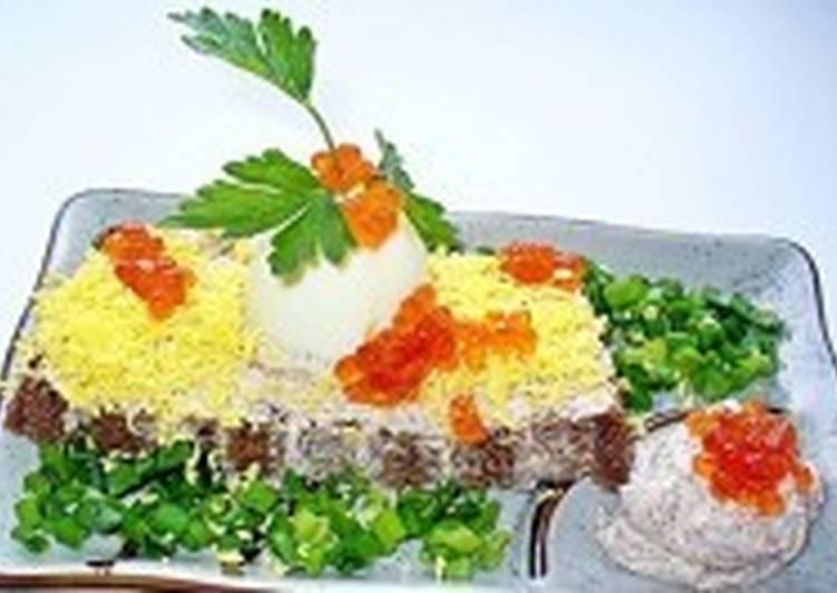 Бутербродная праздничная закуска с селедочным маслом