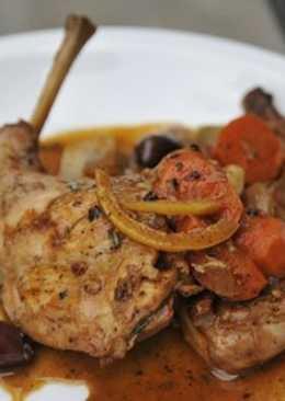 Кролик тушеный с овощами. Блюдо для Новогоднего стола