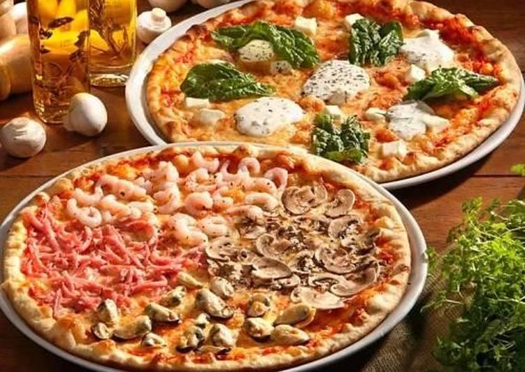 тесто для пиццы без дрожжей с оливковым маслом