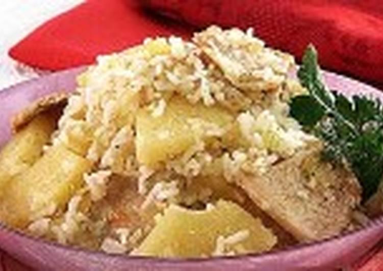 Пелло - свинина с рисом и ананасами