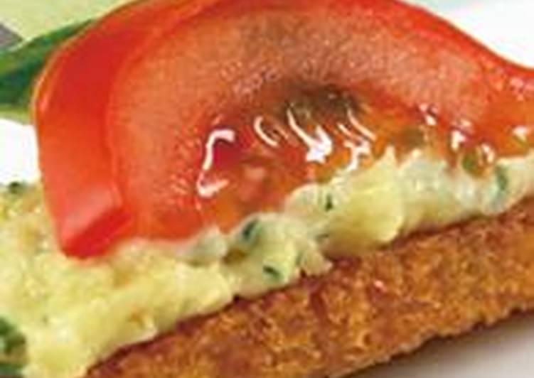Рецепт канапе с сыром и помидорами