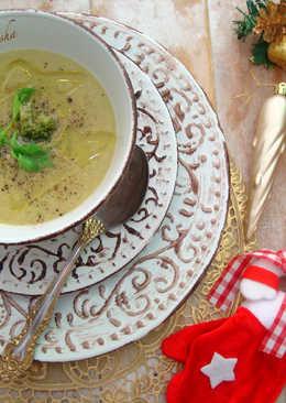 Суп-пюре с брокколи и соком сельдерея