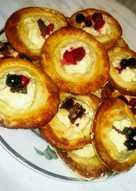 Творожные тарталетки с ягодами