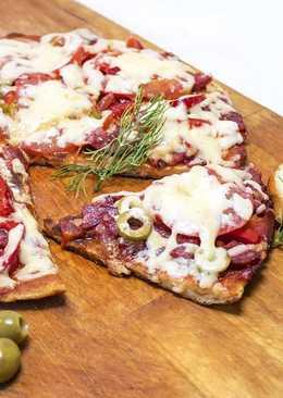 Пицца из батона на сковороде за 10 минут
