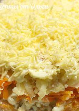 Салат мимоза с сайрой и сыром - вкуснейший слоеный салат