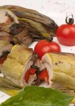 Лук-порей, фаршированной филе индейки