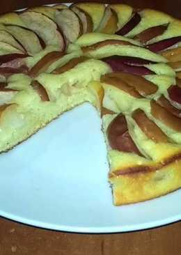 Пирог с яблоками - нежнейшее творожное тесто