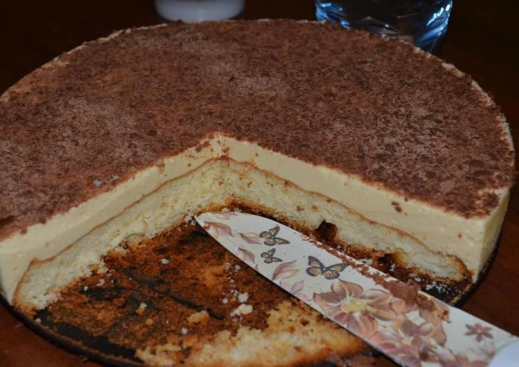 """Торт """"Птичье молоко"""" с бисквитной основой"""