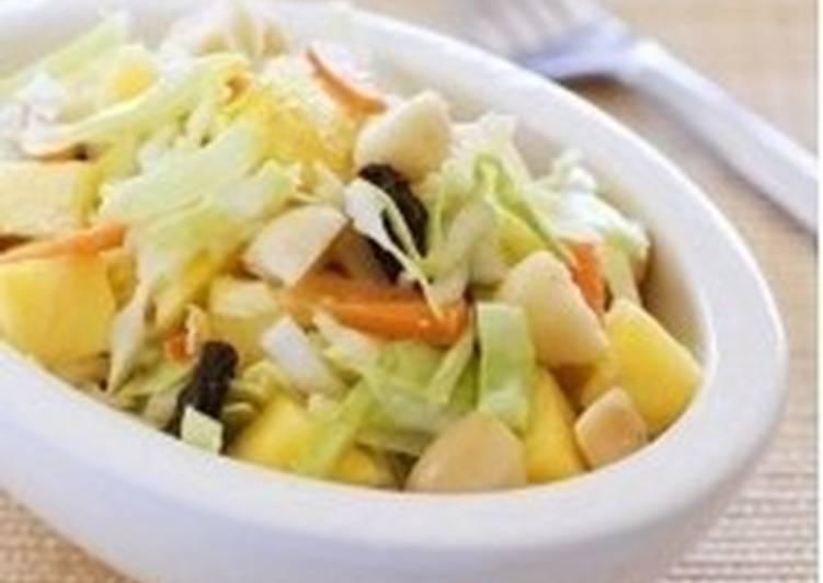 Постный салат «Ананас с пекинской капустой»