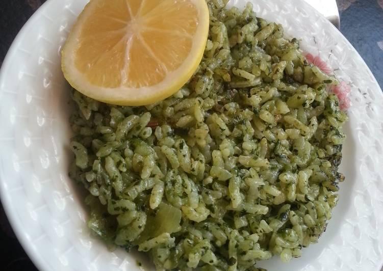 Зеленый плов (Yesil pilav)