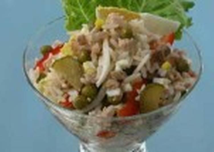 Салат из печени трески с рисом (2)