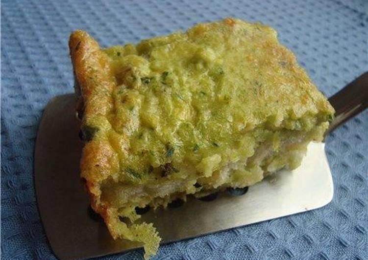Страта с тремя сырами и зеленым луком