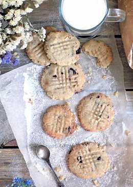 Постное (веганское) печенье с шоколадом