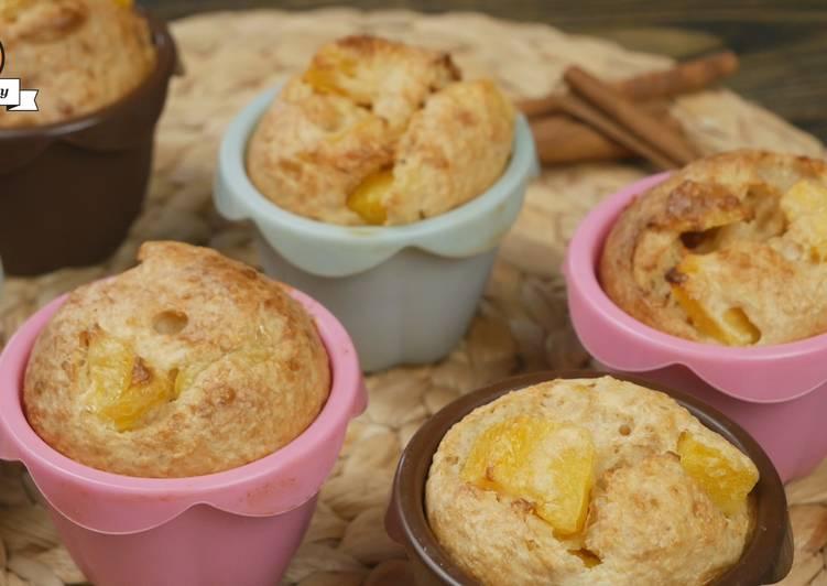 Творожные кексы с персиками