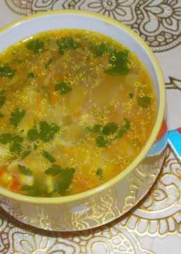 Картофельный суп с крабовыми палочками