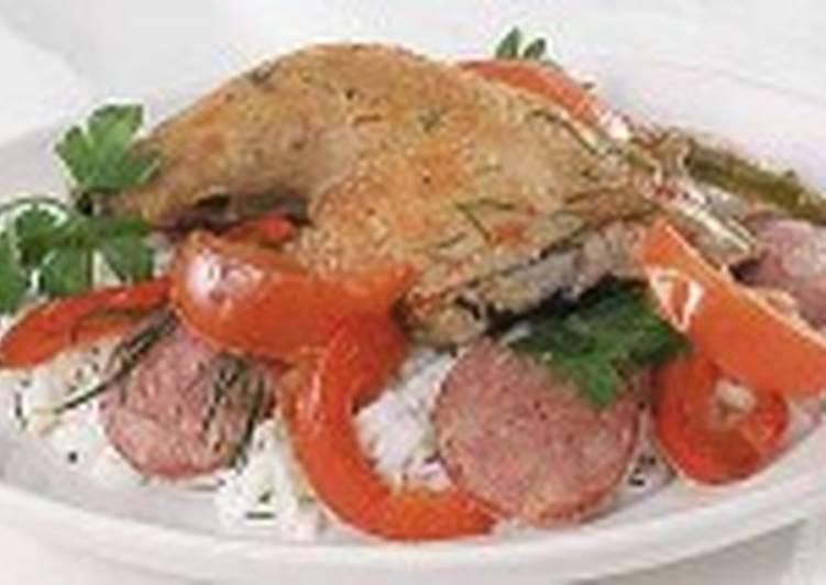 Цыпленок с рисом по-баскски
