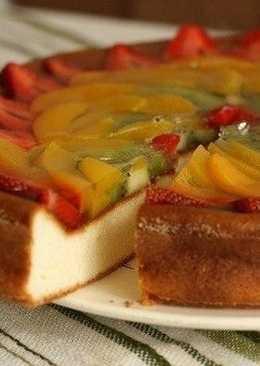Творожное суфле с фруктами