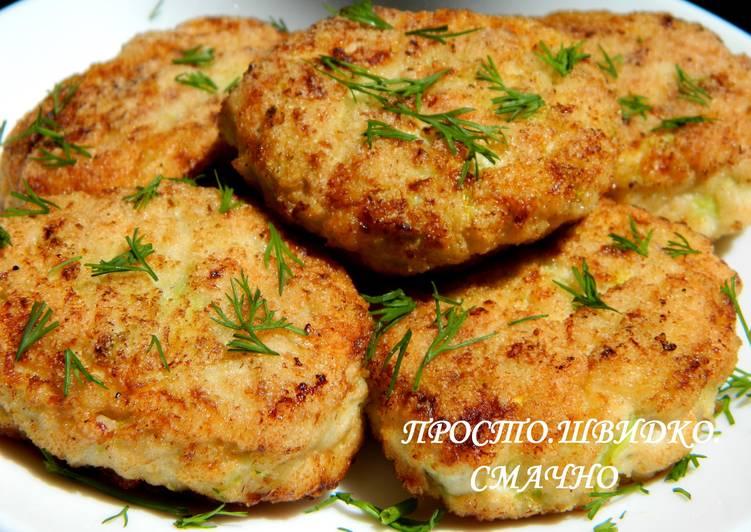 Котлеты из курицы кабачком в духовке — 2