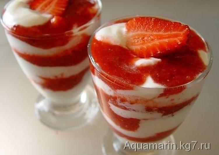 клубника десерт рецепт