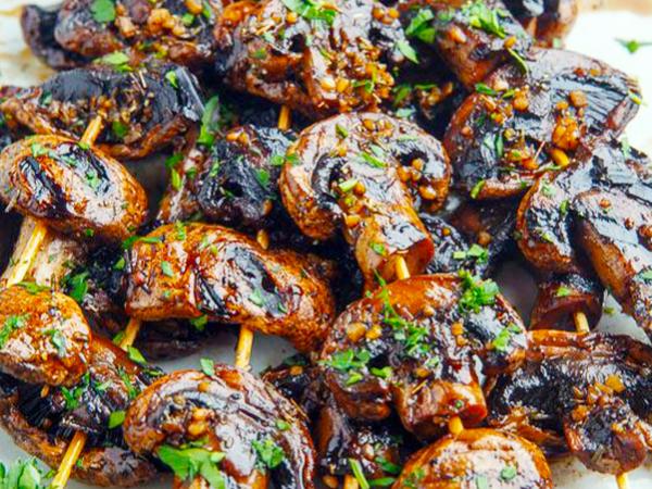 Шампиньоны в соевом маринаде #кулинарный марафон