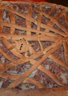 Новогодний пирог с картошкой и фаршем