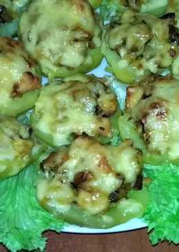 Картофель, фаршированный курицей и грибами