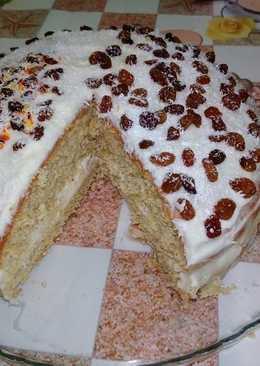 Торт бисквитный без муки и сахара (рецепт с фото и видео)