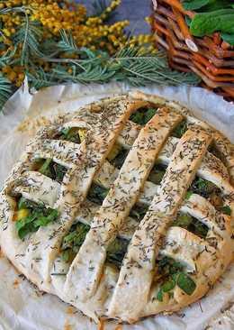 Постный пирог с картофелем и шпинатом!
