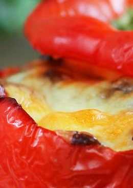 Перец с грибами и кускусом
