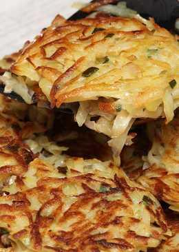 А-ля драники с грибами и сыром