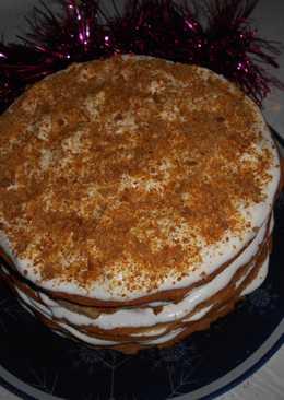 """Вкусный торт """"МЕДОВИК"""" со сметанным кремом"""