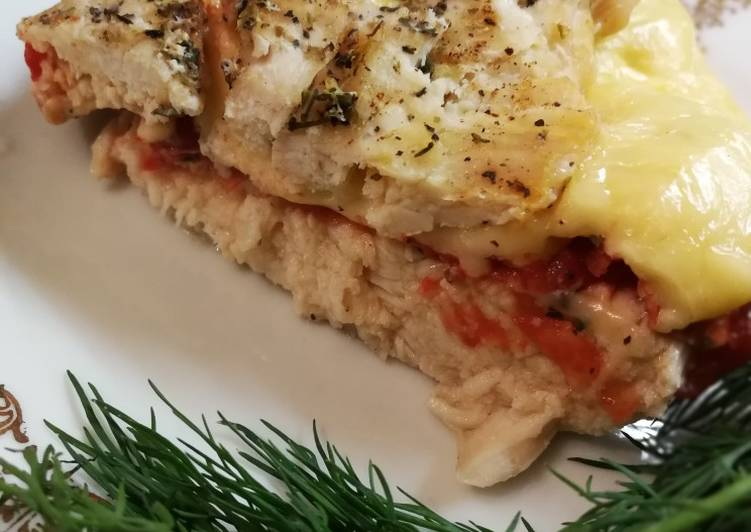 Куриный сэндвич запечённый #кулинарный марафон