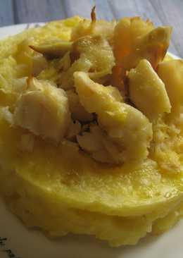 Корзиночки из картофельного пюре с треской