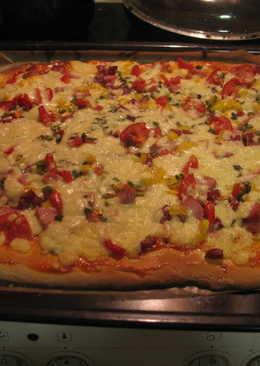 Моя пицца на дрожжевом тесте