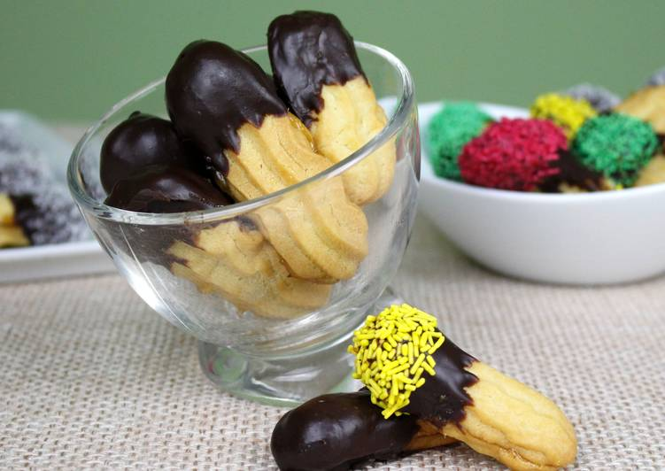 Хрустящее печенье Птифур с джемом и шоколадом