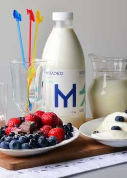 Чернично-молочный коктейль «Нежное лакомство»