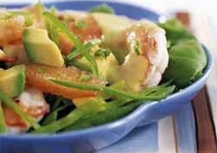 Cалат с авокадо