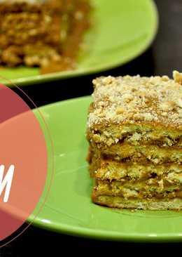 Ореховый торт без выпечки со сгущенкой