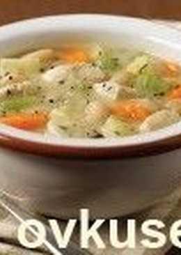 Овощное рагу с капустой и курицей