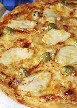 Пицца с Курицей Барбекю - Настоящее Итальянское Тесто и Соус - Рецепты nk cooking
